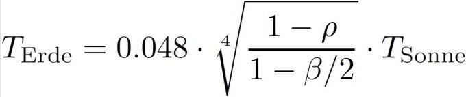 Formel zur Berechnung der Erdtemperatur